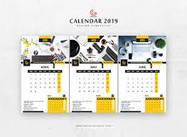 Best 2019 Calendar Design Free 13 Pages 2019 Calendar Design Templates Graphic