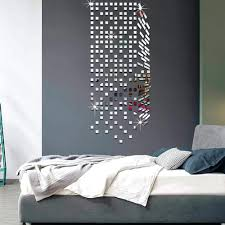 wall decals mirror mirror mosaic background wall stickers home decor creative mirror mosaic background wall stickers