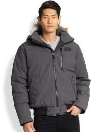 ... Canada Goose coats outlet price - Canada goose Borden Fur-trimmed  Puffer Jacket in Gray Canada Goose mens online ...