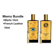 bundle of memo marfa 10ml french leather 10ml miniature