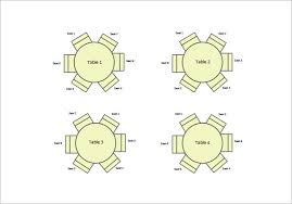 round table seating chart free word