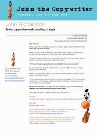 Copywriter Resume Copywriter Resume Objective Creative Templates Cv Template 28