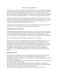 How To Properly Write A Resume Resume Proper Format Best Collections