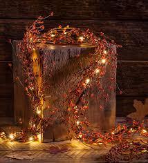 Fall Garlands With Lights Lighted Autumn Berry Garland Wreaths Garlands Fall
