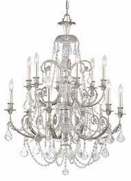 4 lights olde silver crystal chandelier pertaining to popular property silver crystal chandelier designs