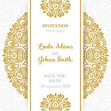 Vintage Wedding Invitation Vintage Wedding Invitation With Mandala Vector Free Download