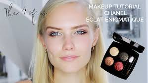 makeup tutorial using the limited edition eyeshadow palette from chanel Éclat Énigmatique