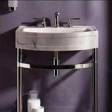 double console sink metal legs ideas