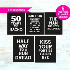 If you're planning a 5oth birthday party for the man in your life, you're going to love the. 50th Birthday Decorations For Men 50th Party Decorations For Men 50th Birthday For Men Decorations 5 X Posters Printed Shipped By Lucia And Luciana Catch My Party
