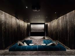 theatre room lighting ideas. A Luxe Theatre Room, The Focus Is On Comfort, Depth And Accent Lighting. Room Lighting Ideas