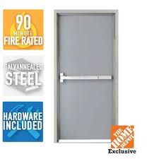 commercial steel entry doors. fire-rated gray right-hand flush steel commercial entry doors