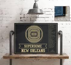 New Orleans Saints Superdome Seating Chart Vintage