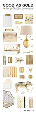 office decorative accessories. Wonderful Decorative Gold Desk Accessories  Of Mercer Blog Intended Office Decorative S