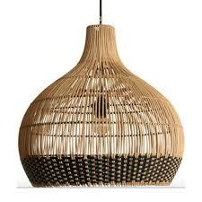 Handgeweven Hanglamp Weave Naturelzwart Small Large Home Stock