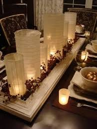 Dining Room Centerpiece Ideas Candles Modern Home Interior Design