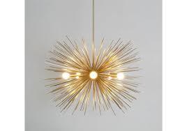 mid century modern brass sputnik chandelier starburst lam