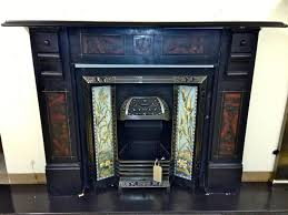 slate fireplace surround dark