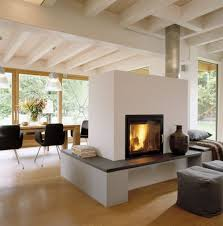 Panoramakamin Im Wohnzimmer Mit Bodentiefen Fenster Build Ideas