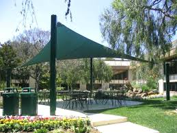 Fabric patio shades Free Standing Garden A433waterscapeinfo Garden Shading Fabric Garden Shade Sail Triangle Sand Colour Fabric