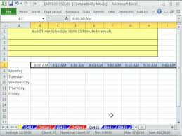 6 Minute Increment Chart Excel Magic Trick 543 Build Time Schedule With 15 Minute Intervals