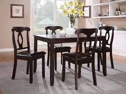 keira 5pc dinette set dark cherry
