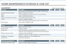 Home Maintenance Schedule Spreadsheet A Home Maintenance Schedule Spreadsheet Or It Plan Template
