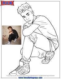 Small Picture Beiber Fever Wearing Nice Shoes Coloring Page H M Coloring Pages