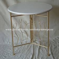 china end table side table table gold metal