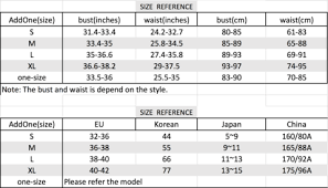 Size Chart Addoneclothing
