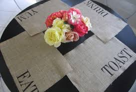 burlap placemats best friend gift