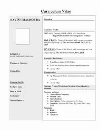 Mba Finance Fresher Resume Format New Best Resume Sample For Mba