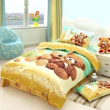 bear comforter teddy bear cartoon cute bedding set for kids children twin size bedspread duvet cover bear comforter