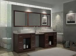 ariel roosevelt 97 double sink vanity set in walnut w makeup table