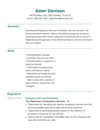 Resume Help Best Emergency Services Chronological Resumes Resume Help