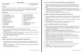 Oracle Dba Resume Example Epic Mysql Dba Resume Examples With Oracle Dba Sample Resumes 13