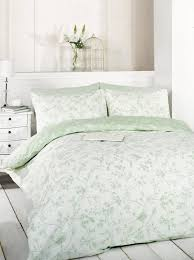 bird toile duvet cover sets green