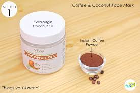 list of ings to make your coffee face mask