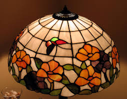 lamp shades design glass lamp shade stained bases flower red green brown yellow blue cream