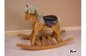 amish made oak hobby horse esh14 finish 214 95