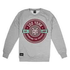 Zoo York Clothing Size Chart Details About Zoo York Ruckus Mens Sweatshirt Grey Size S M Xl