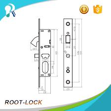 china commercial sliding tempered glass door hook key lock