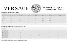 Men S Shirt Size Conversion Chart 36 True Versace Jeans Size Chart