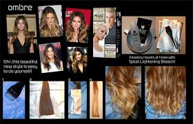 get the latest hot hollywood look easily with splat lightening bleach kit ombre hair is where ones hair goes from dark to light from the roots to tips