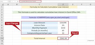 excel formulas to calculate the