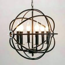 iron globe chandelier wrought iron orb chandelier and iron globe chandelier industrial orb chandelier in wrought