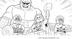 Lego Superhero Coloring Pages Marvel Super Heroes Colouring Pages