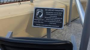 American Legion Riders Pow Mia Seat Dedicated At Werner Park