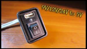 Понижающий конвертер <b>DC</b>-<b>DC 9V/12V/24V to 5V</b> USB - YouTube