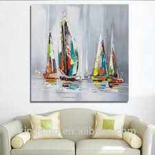 sailing boat modern hotel decoration canvas wall art abstract oil painting on boat canvas wall art with sailing boat modern hotel decoration canvas wall art abstract oil