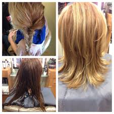 Before And After Haircut Long To Short Medium Hair Highlights